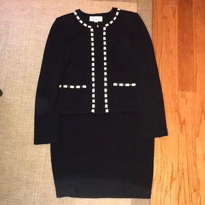 St. John Collection Black Knit Suit 6 4